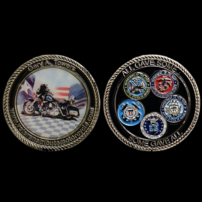 Custom Made Challenge Coins for Active Military | 4Heros